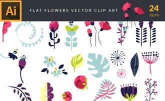Flat Flowers | Vector Pack
