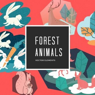 Illustrated Forest Animals | Vector Pack