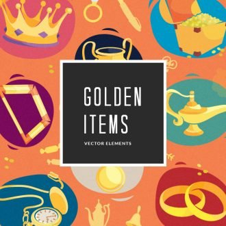 Golden Items | Vector Pack