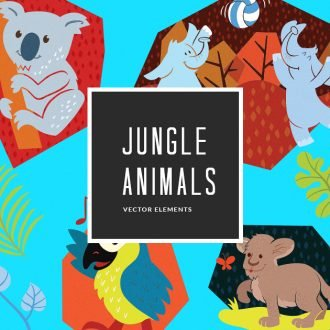 Colorful Jungle Animals | Vector Pack