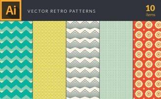 Colorful Retro Patterns Vector Pack