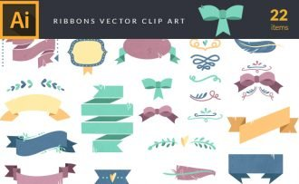 Colorful Ribbons Vector Pack