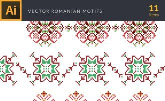 Romanian Motifs Vector Pack