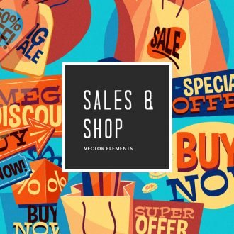 Sales & Shopping Texts Vector Pack