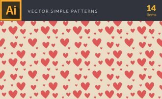 Simple Tile Patterns Vector Pack