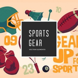 Illustrated Sport Gear Vector Pack