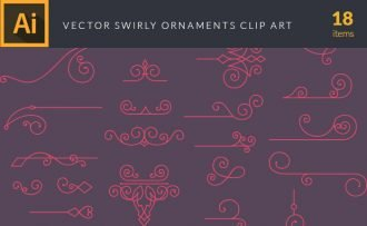Swirly Ornaments Vector Pack