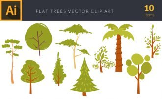 Cartoon Trees Vector pack