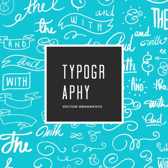 Hand-Drawn Typography Ornaments Vector Pack