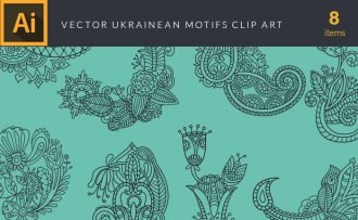 Ukrainean Motifs Vector Pack