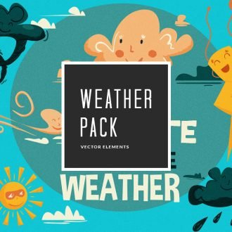 Cartoon Weather Symbols Vector Pack