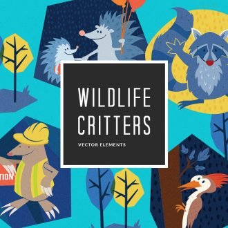 6 Illustrated Wildlife Creatures