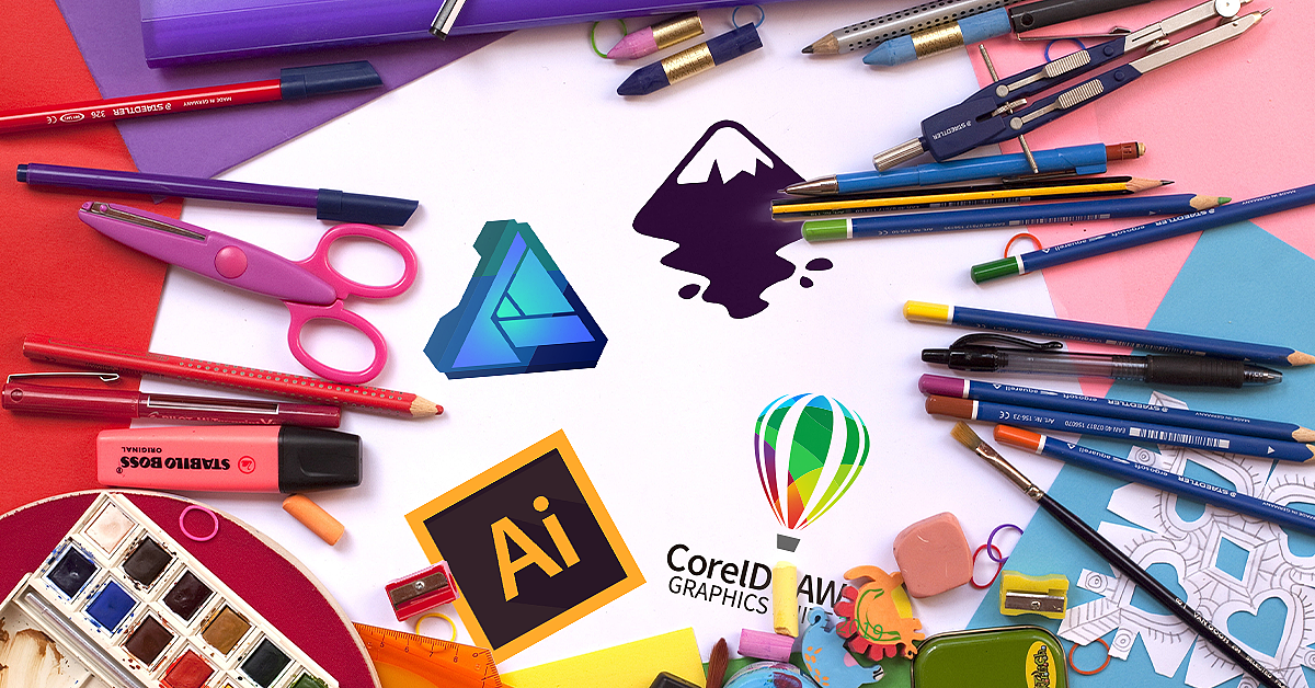 Top Free Video Courses to Learn Adobe Illustrator, Corel Draw, Inkscape and Affinty Designer 1