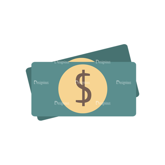 Flat Restaurant Icons Set 2 Vector Money 1