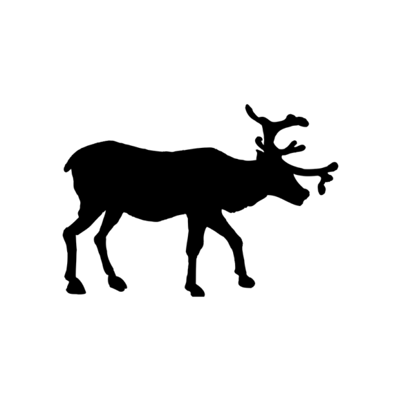 Animal Silhouettes 22 Vector Large Reindeer 04 1