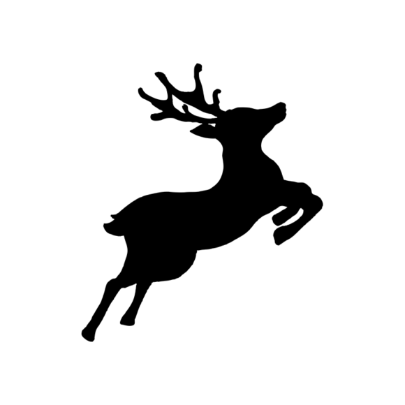 Animal Silhouettes 22 Vector Large Reindeer 06 1