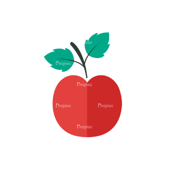 Back To School Vector Set 12 Vector Apple 1