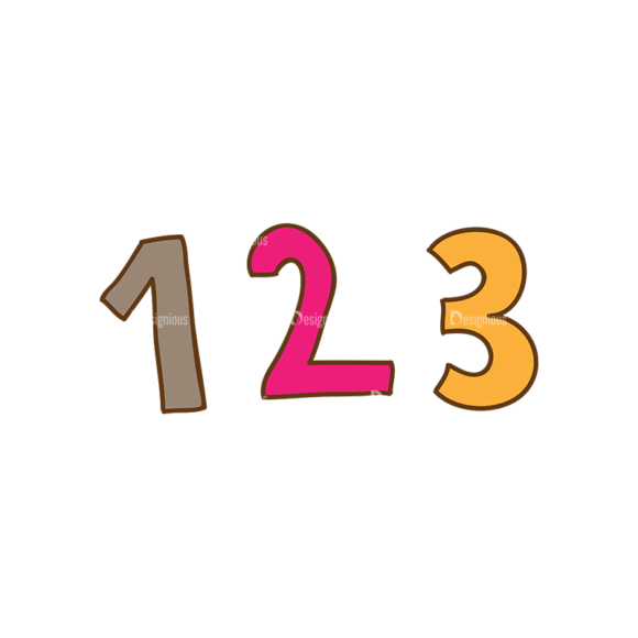 Back To School Vector Set 13 Vector Numbers 27 1