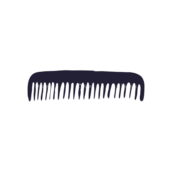 Barber Shop Vintage Vector Set  Vector Small Comb 1