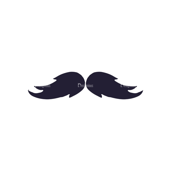 Barber Shop Vintage Vector Set  Vector Small Mustache 1