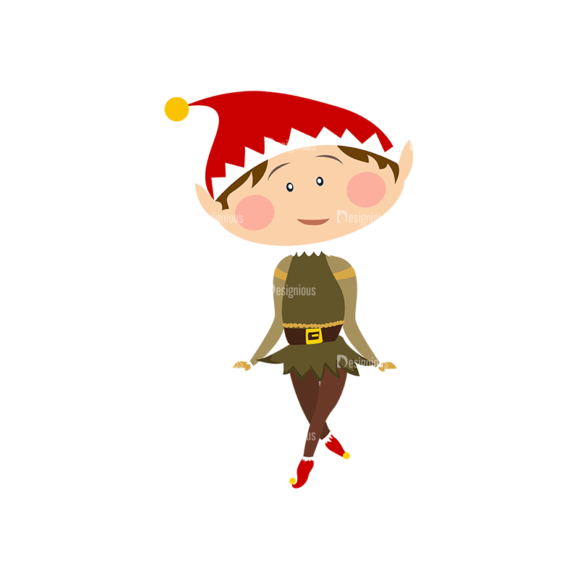 Christmas Kids And Animals Vector Elf 03 1