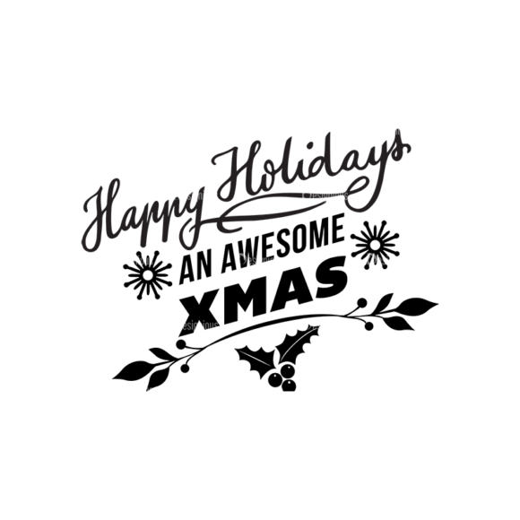 Christmas Typography 2 Vector Expanded Text 03 1