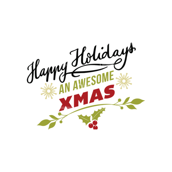 Christmas Typography 2 Vector Expanded Text 10 1
