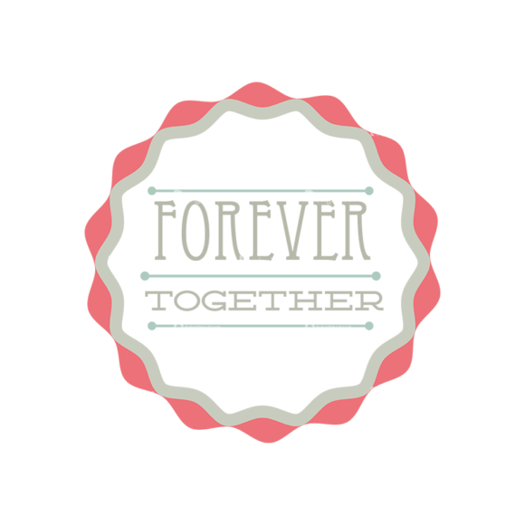 Decorative Valentines Day Vector Set 5 Vector Forever Together 1