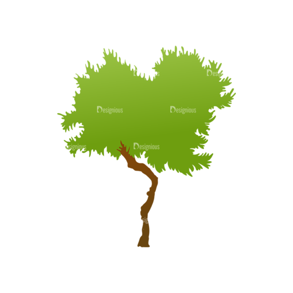 Green Trees Vector Tree 12 1