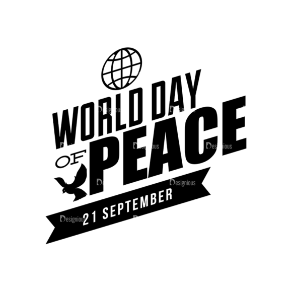 International Day Of Peace Typography 1 Vector Expanded Text 07 1