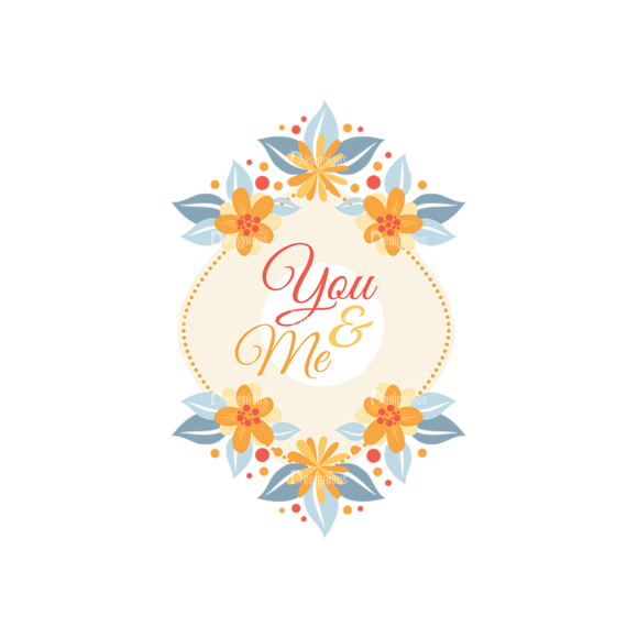Labels With Flower Set 6 Vector Labels 05 1