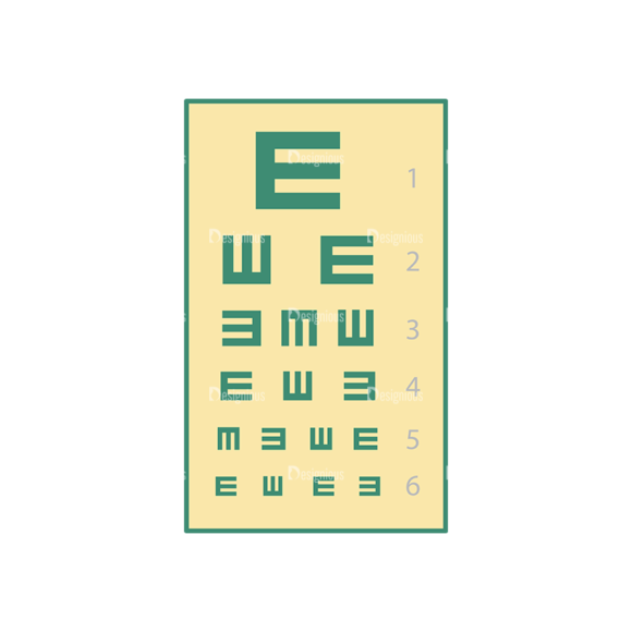 Optician Vector Eye Test 1