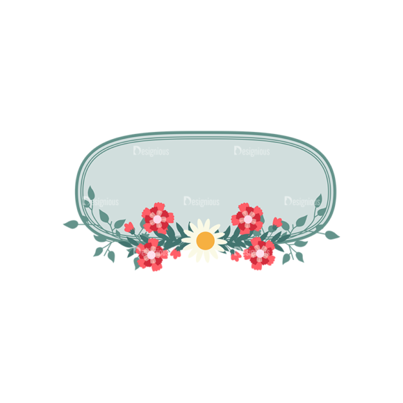 Vintage Vector Labels With Flowers Vector Labels 04 1