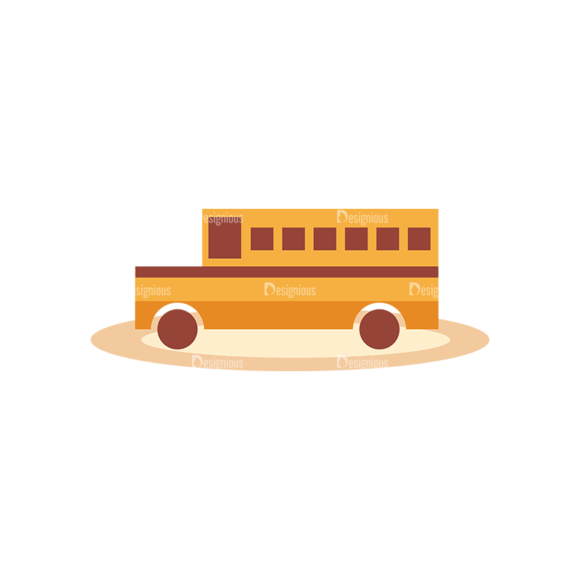 Education Vector Set 2 Vector School Bus 1