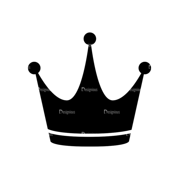 Flat Crown Icons Set 2 Vector Crown 02 1