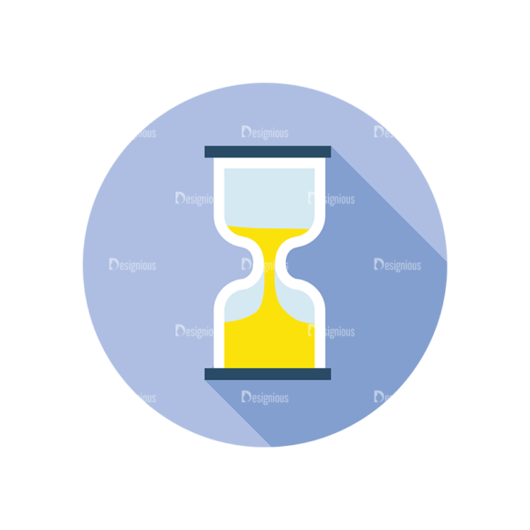 Flat Modern Icons Vector Set 3 Vector Sand Timer 1