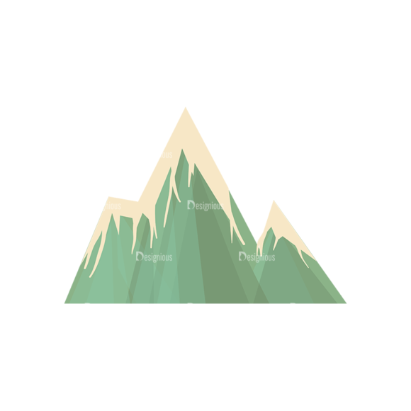 Hiking Equipment Vector Infographics Vector Mountain 02 1