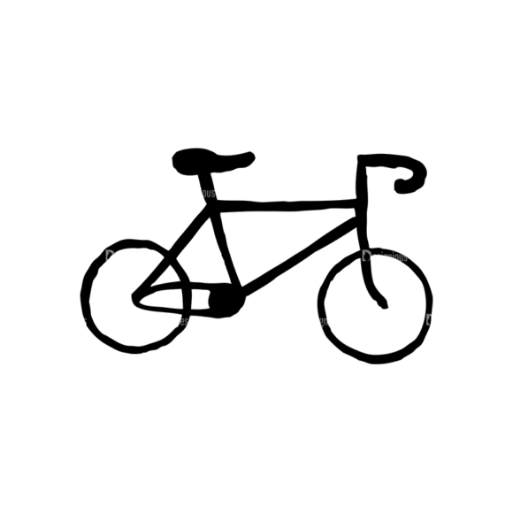 Hipster Apparel And Gadgets Set 10 Vector Bike 1