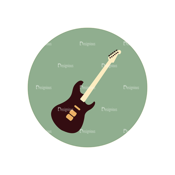 Hobbies Icons Vector Set 2 Vector Guitar 1