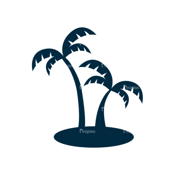 Surf Vector Set 1 Vector Palm Tree 1
