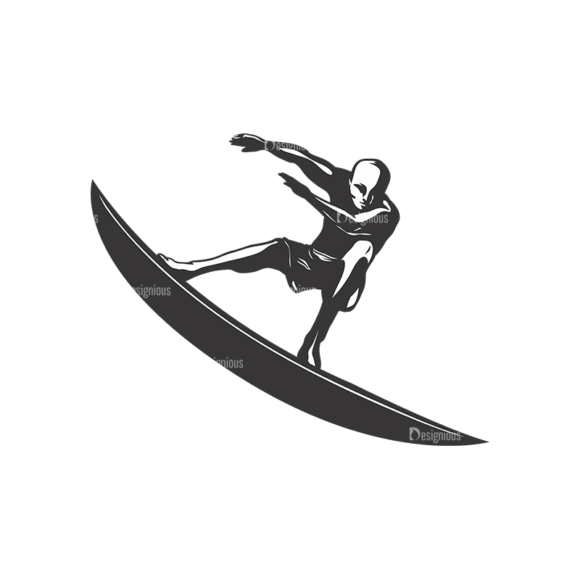 Surfer Silhouettes Pack 2 2 Preview 1
