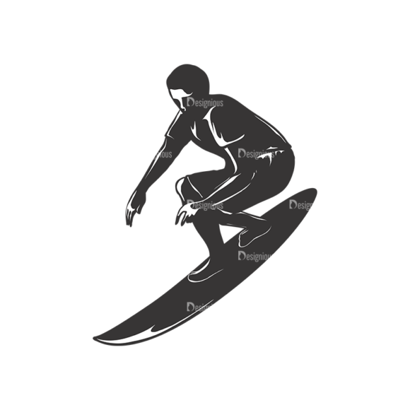 Surfer Silhouettes Pack 2 4 Preview 1