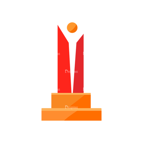 Trophy And Awards Vector Set 1 Vector Trophy 07 1
