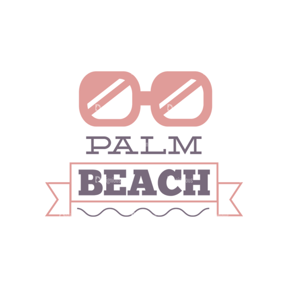 Vacation Emblems Vector Set 1 Vector Summer 17 1