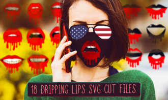 18 Red Dripping Lips Face Mask Designs
