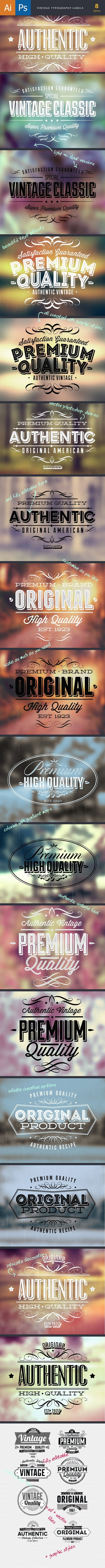 TypeZilla 3: The Super Premium Vintage Typography Set 12