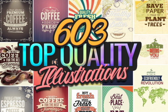 630 Top-Quality Vector Illustrations 1