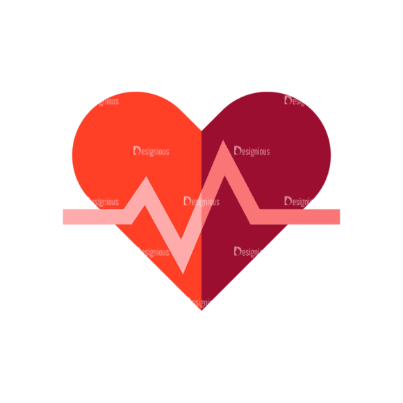 Fitness Medical Heart Preview Svg & Png Clipart 1