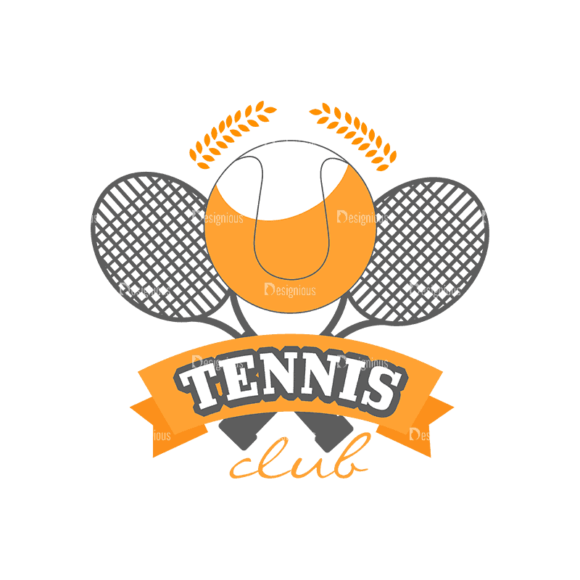 Sport Badges Tennis Preview Svg & Png Clipart 1
