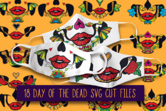 "18 ""Day of The Dead"" Calavera Face Mask Designs"